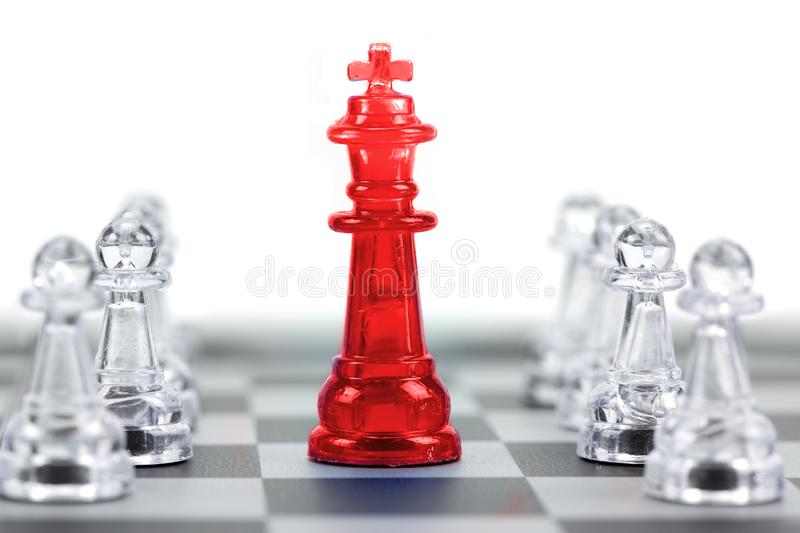 King of chess, Leader and teamwork for business concept royalty free stock photos