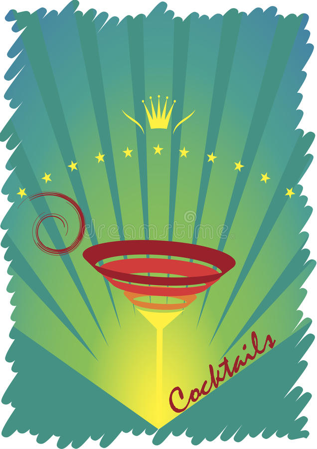 The king of cocktails.Abstract vector illustration royalty free illustration