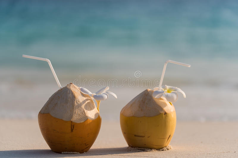 king Coconut cocktail royalty free stock photos