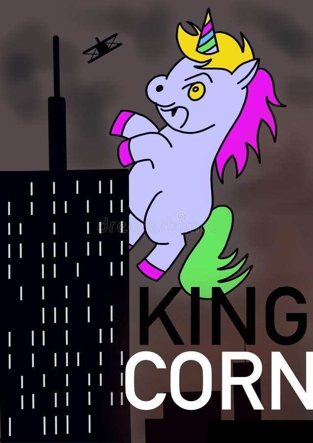 King Corn royalty free stock image