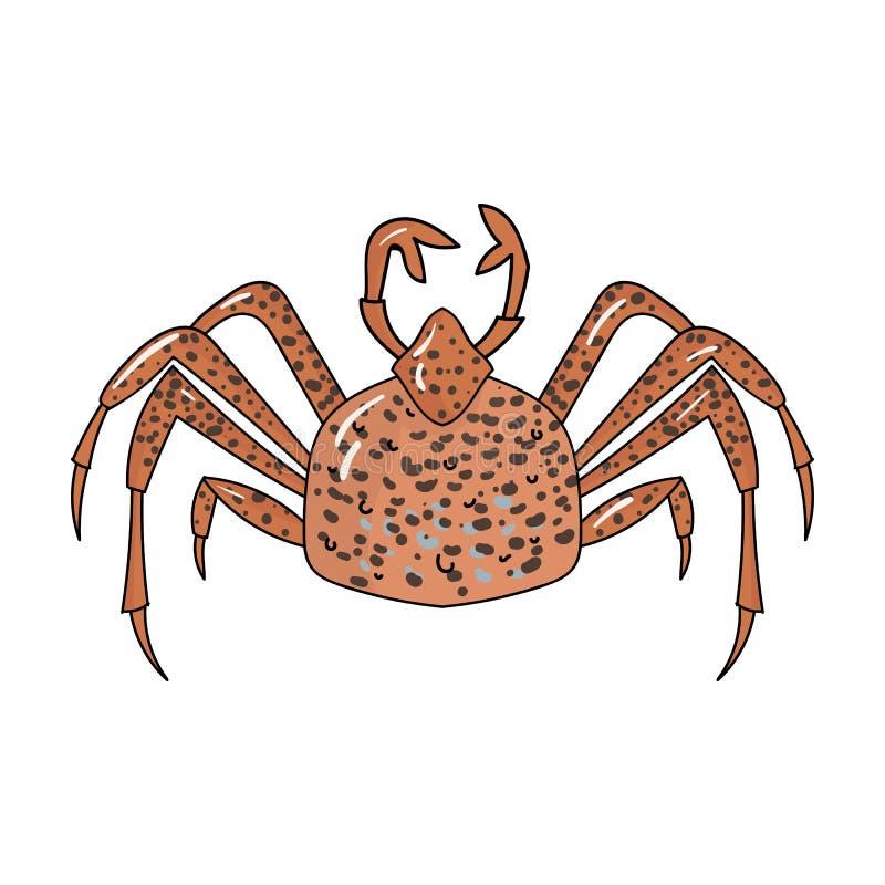 King crab icon in cartoon style on white background. Sea animals symbol stock vector illustration. vector illustration