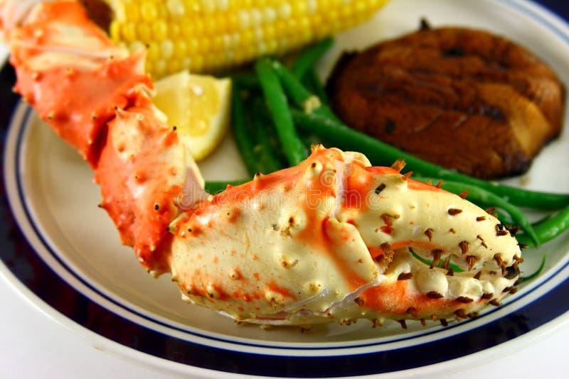 King Crab Leg Meal stock photo