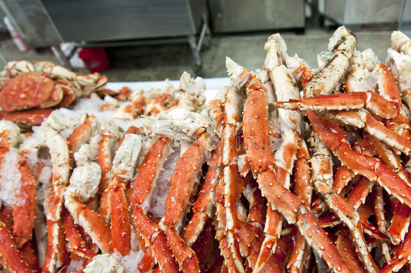 King crab legs royalty free stock photography