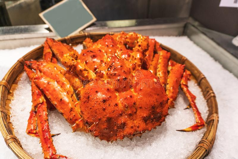 King Crabs at Taipei fish market, Taiwan.  royalty free stock photography