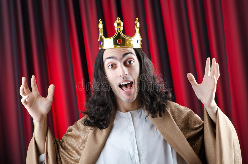 Download King with crown stock photo. Image of yellow, monarch - 23372704