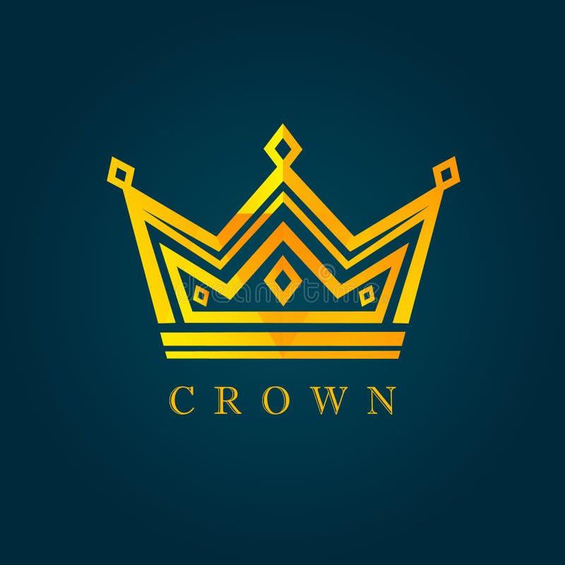 King crown facet logo royalty free illustration
