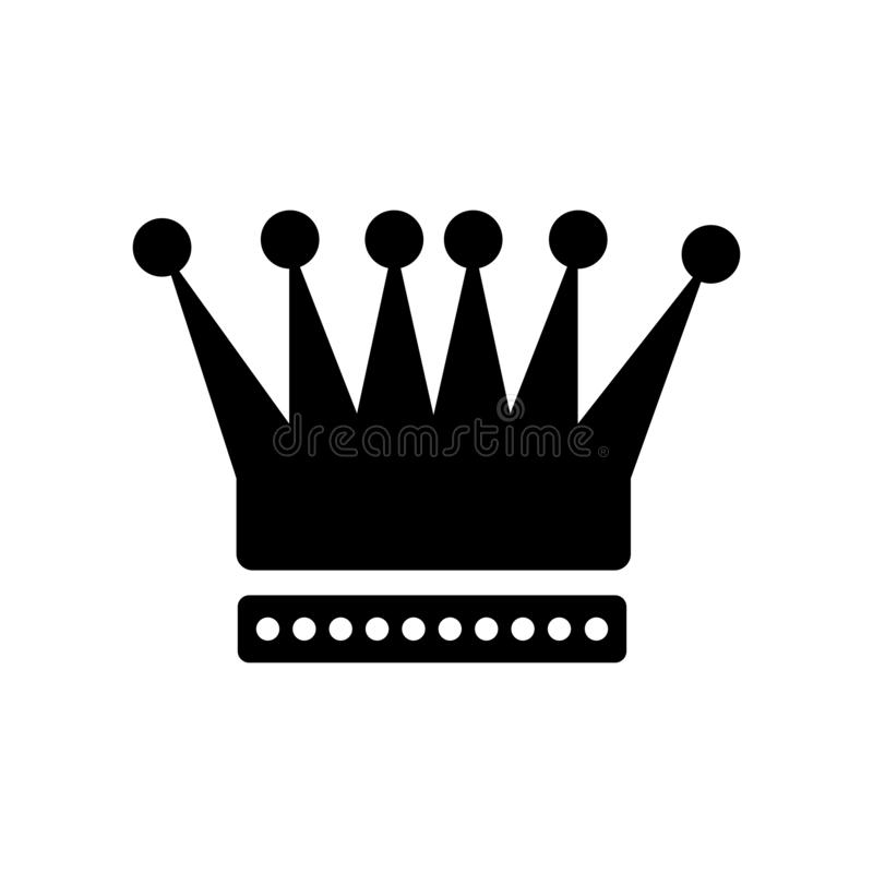 King Crown icon vector sign and symbol isolated on white background, King Crown logo concept stock illustration