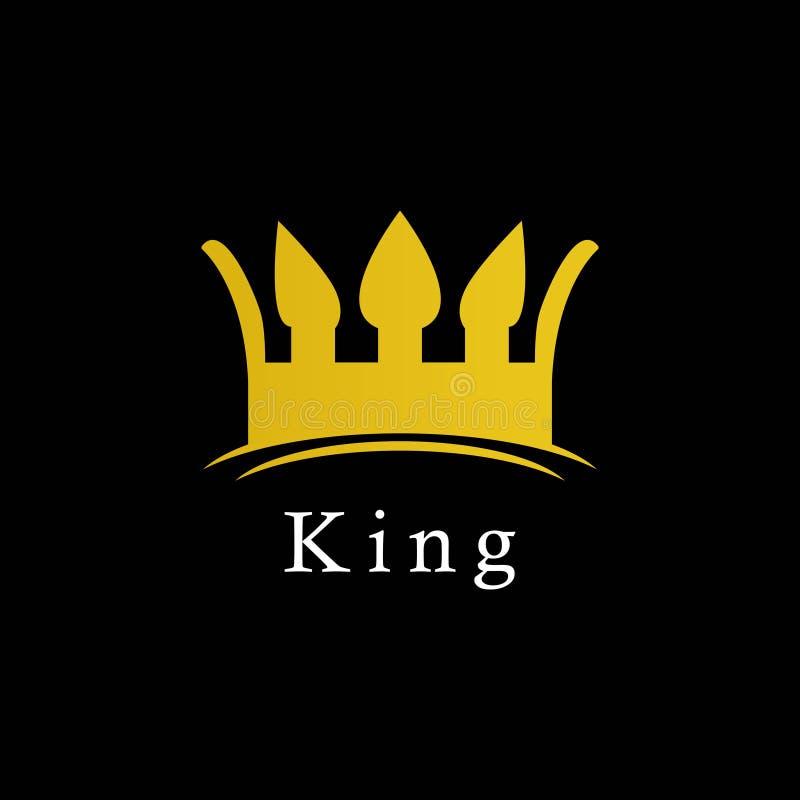 King Logo Icon Vector Template Design Illustration royalty free illustration