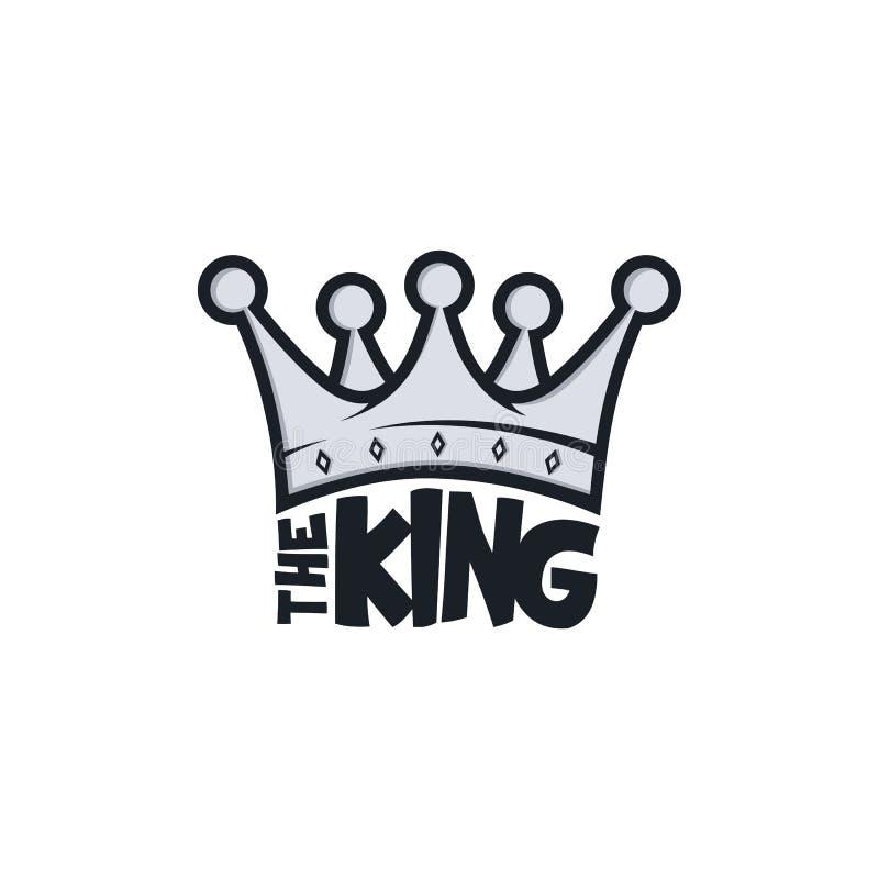 King crown. Vector art illustration stock illustration