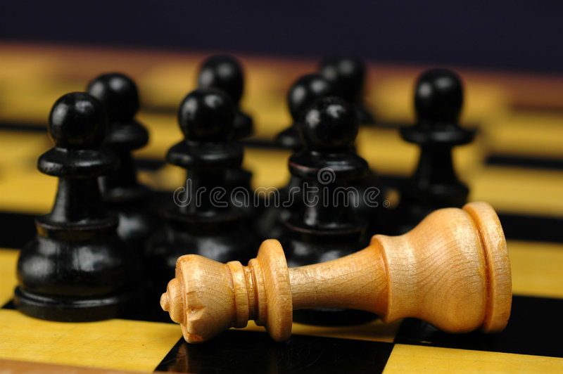 The King is dead! royalty free stock image