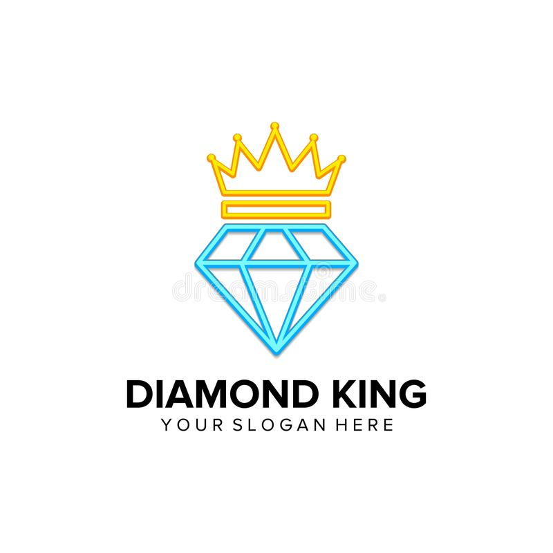 King of diamond logo vector illustration