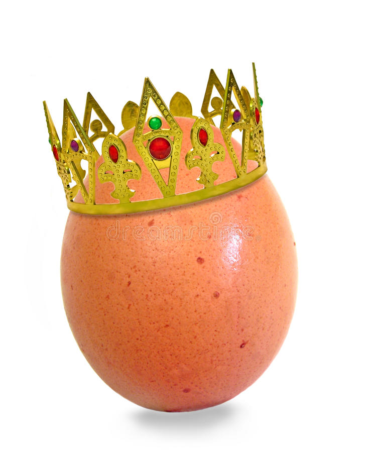 King of eggs stock photo