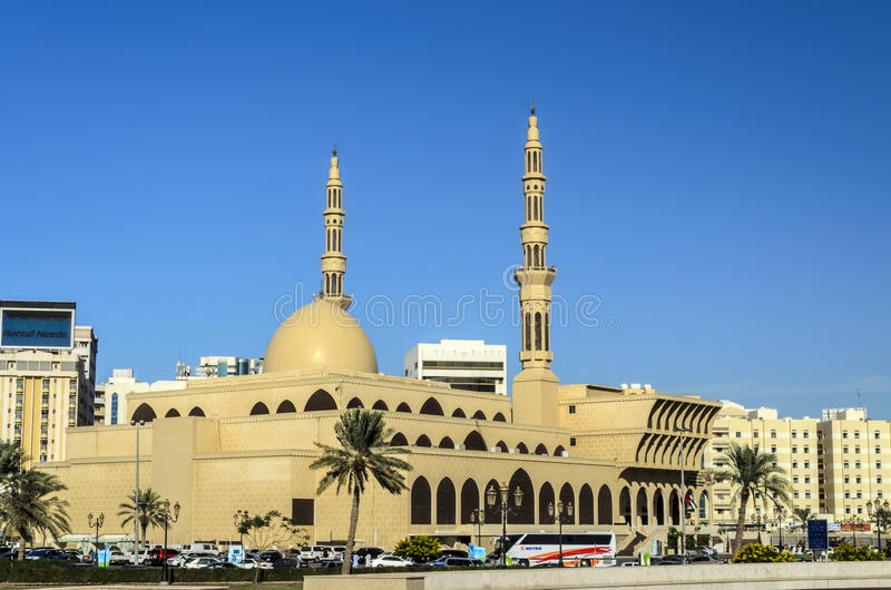 King Faisal Mosque Sharjah UAE stock image