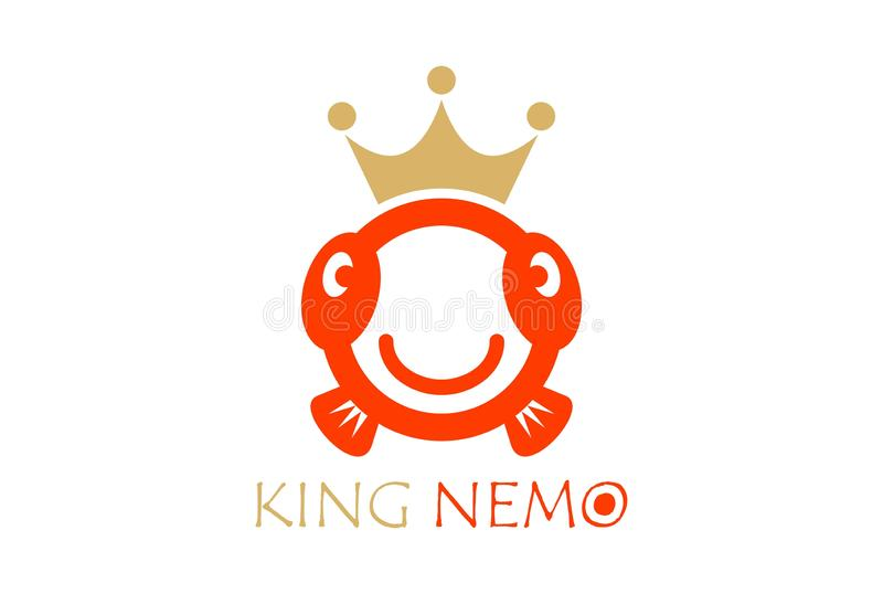 King fish abstract simple logo icon royalty free illustration