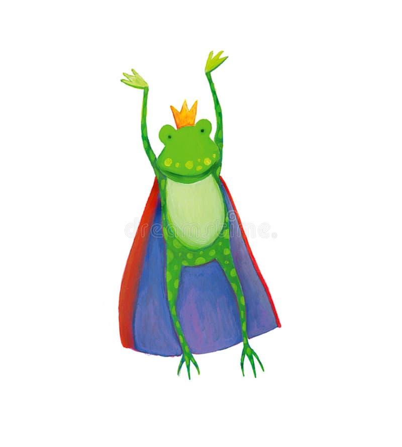 King frog jumping royalty free stock photo