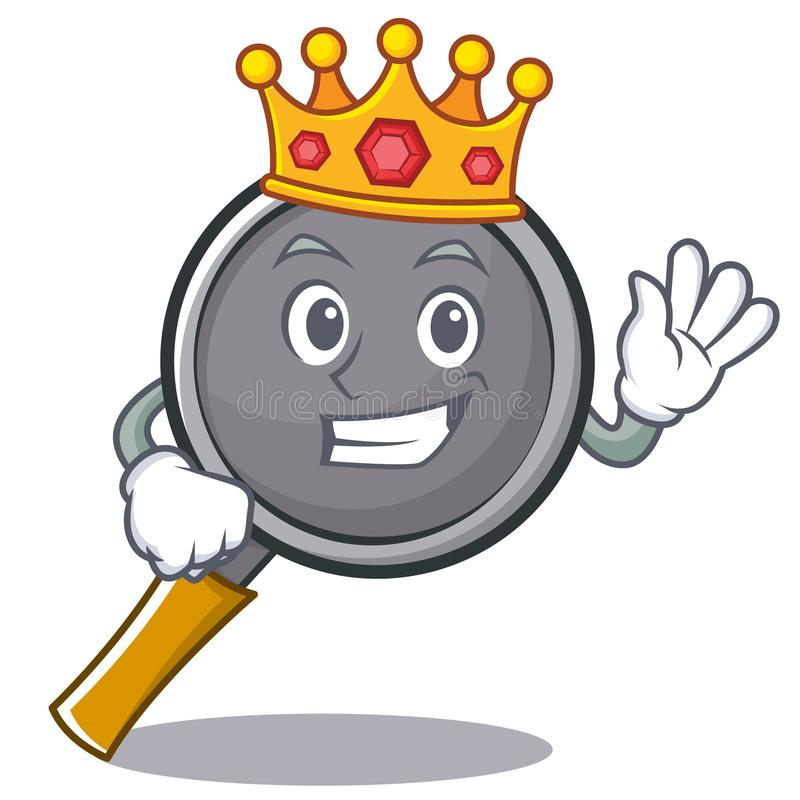 King frying pan cartoon character. Vector illustration stock illustration