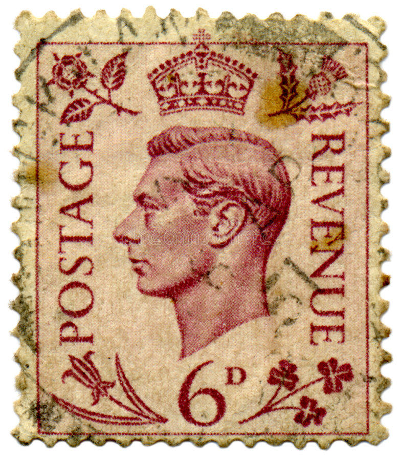 Download King George VI stamp. stock image. Image of color, dirty - 2316181