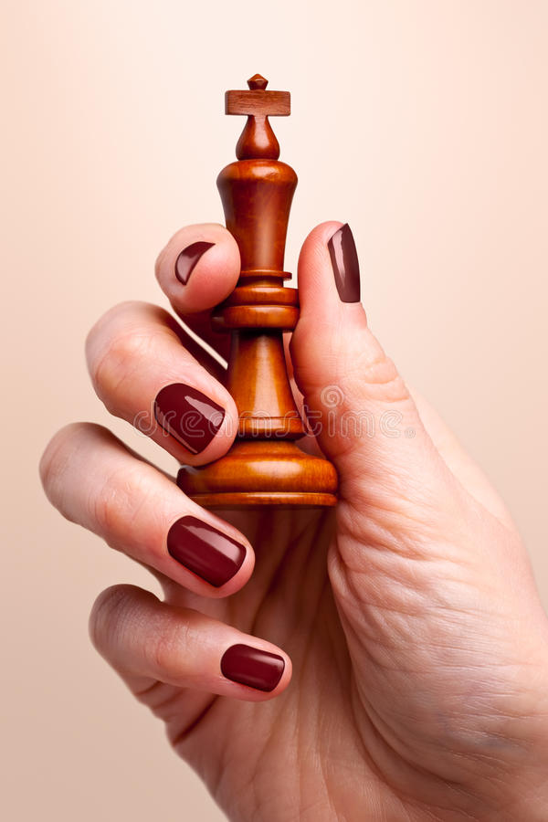 Download King in hand stock image. Image of colour, human, thumb - 12341775