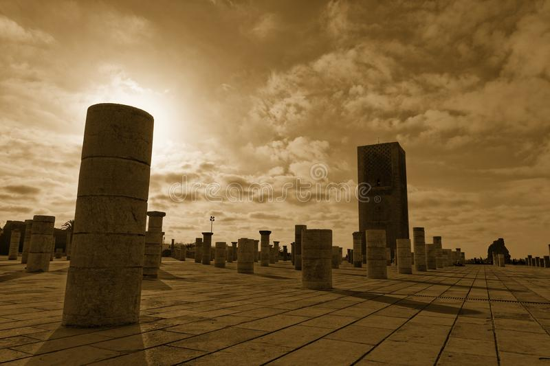 King Hassan Tower Morocco. King Hassan Tower in Rabat, Morocco royalty free stock image