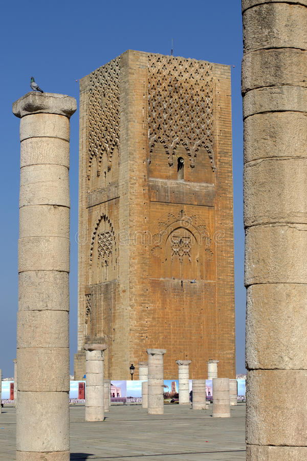 King Hassan Tower Morocco stock images