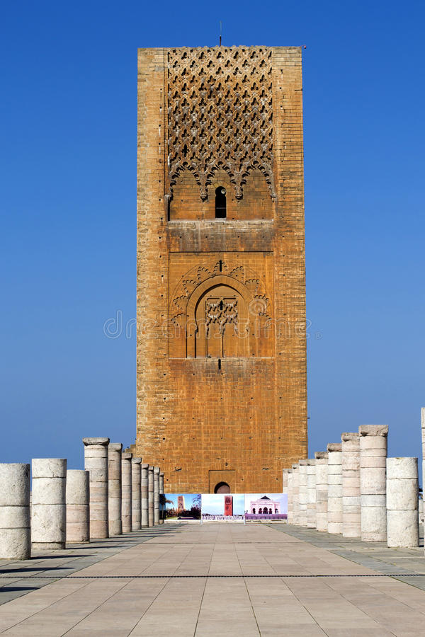 King Hassan Tower Morocco stock photo