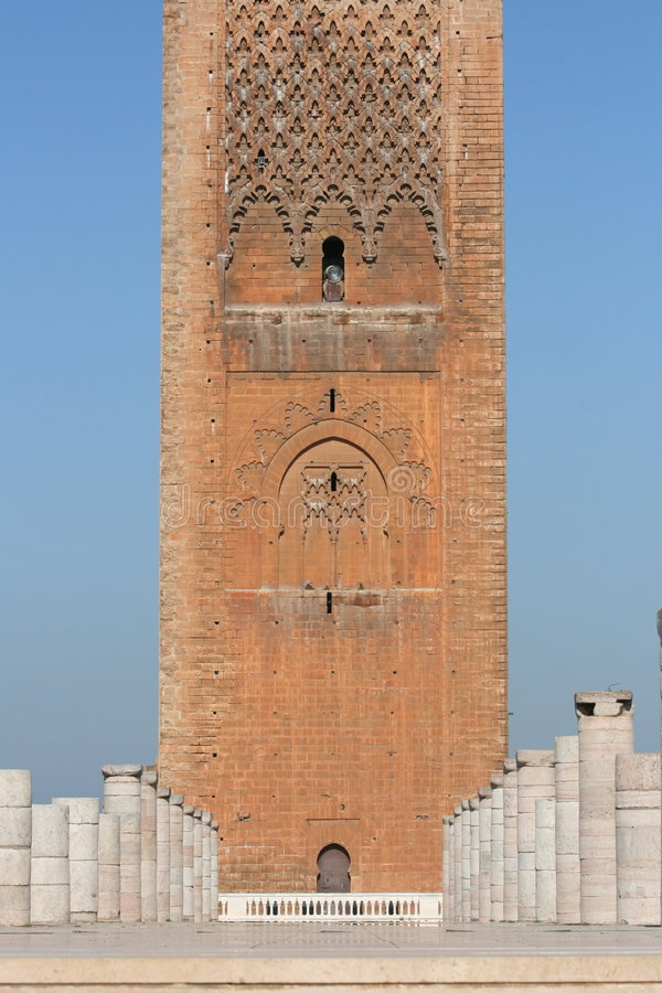 King Hassan Tower Morocco. The King Hassan Tower in Rabat, Morocco royalty free stock photos