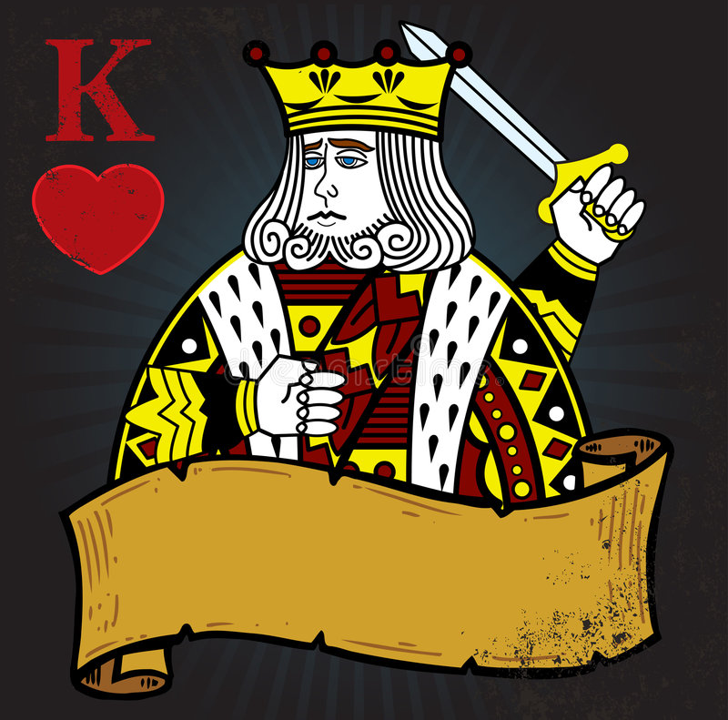 King of Hearts with banner royalty free stock photos