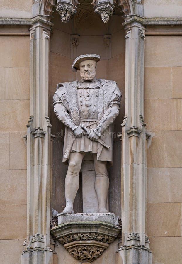 King Henry VIII. Exterior of King's College, Cambridge University royalty free stock photos