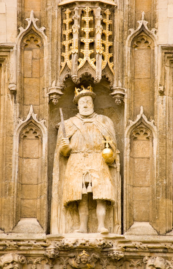 King Henry VIII Statue, Cambridge Stock Image
