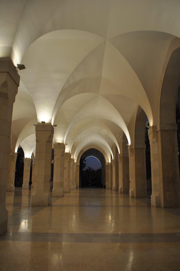 King Huseein Bin Tala Mosque Lobby stock image