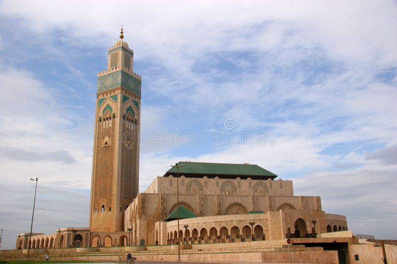 King Hussan II Mosque royalty free stock images