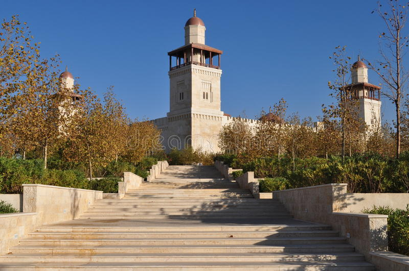King Hussein's Mosque stock photography
