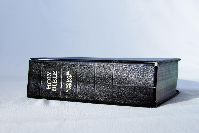King James holy bible stock photography