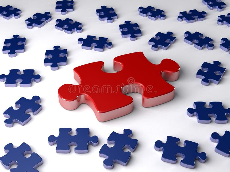 King of jigsaw puzzle royalty free stock images