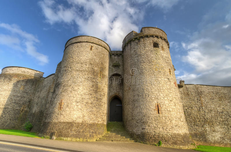 King John Castle fortress stock photos