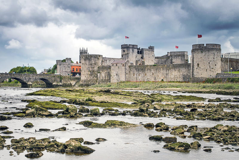 King John Castle in Limerick royalty free stock photo