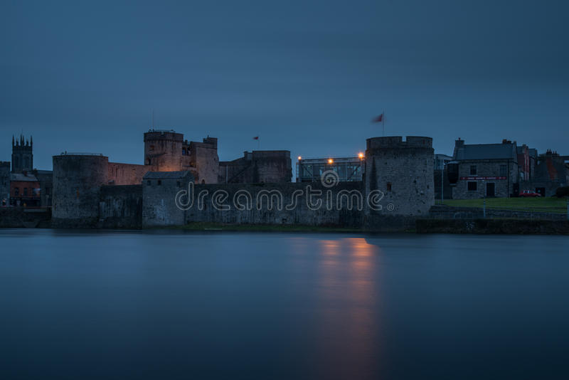 King John`s Castle 9-2-2017. King John`s Castle Irish: Caisleán Luimnigh is a 13th-century castle located on King`s Island in Limerick, Ireland, next to the royalty free stock photo