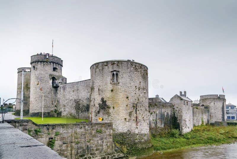 King John`s Castle, Limerick, Ireland. King John`s Castle is a 13th-century castle in Limerick, Ireland, next to the River Shannon royalty free stock photo