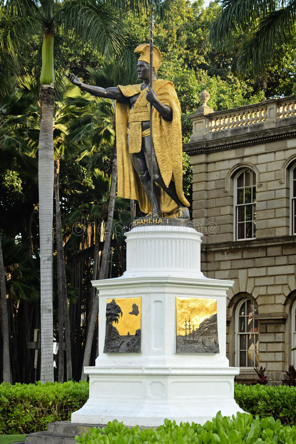 King Kamehameha Statue stock photo