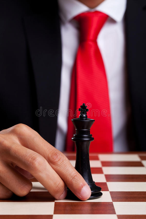 Only King Left On The Board Stock Photo