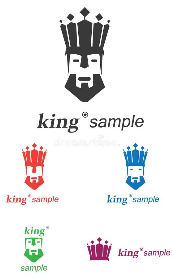 King Logo. King , crown logo in five variants concept,symbol illustration stock illustration