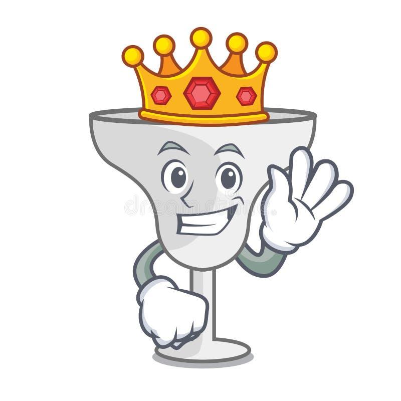 King margarita glass mascot cartoon. Vector illustration vector illustration