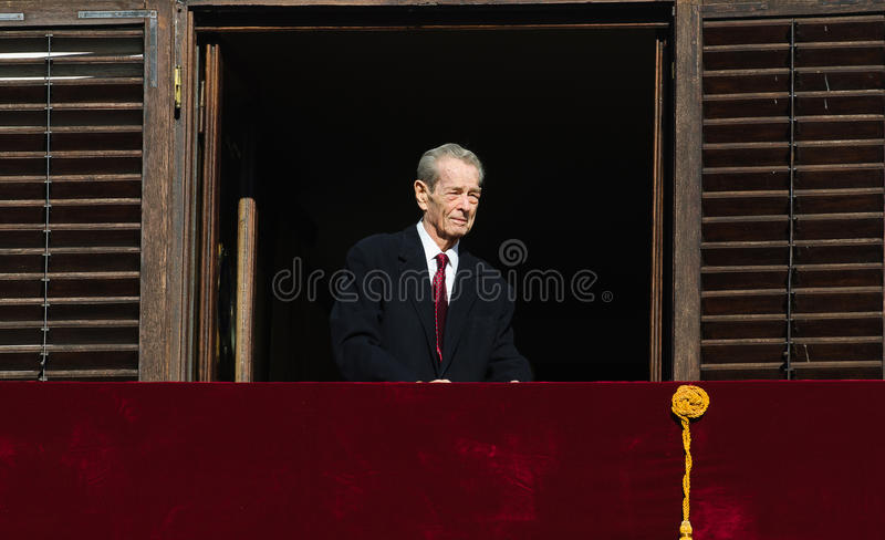 King Mihai I of Romania royalty free stock photography