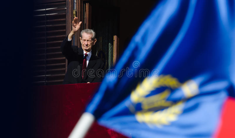King Mihai I of Romania royalty free stock photo