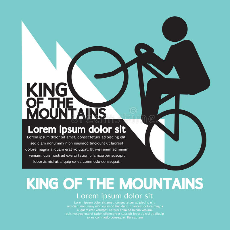King Of The Mountains vector illustration
