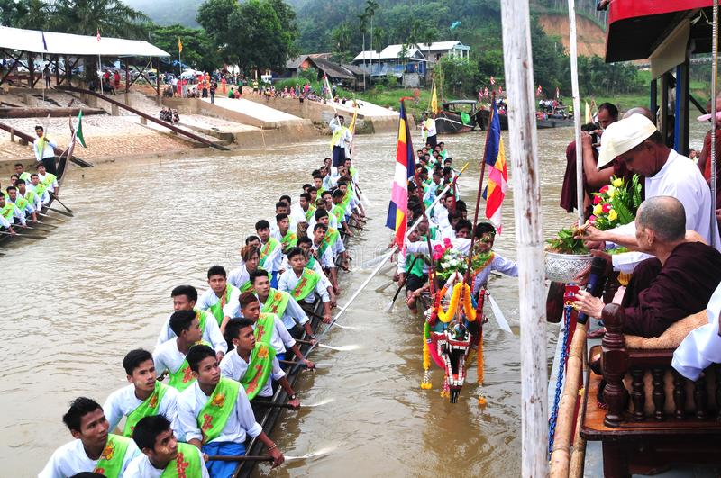 King of Nagas long boat racing festival , This event has been the pride of Tanintharyi for stock photography