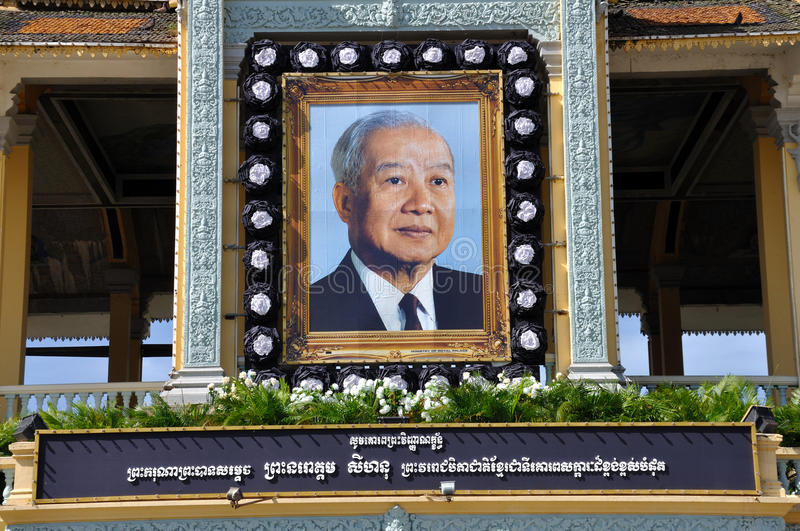 Download King Norodom Sihanouk Memorial Portrait Editorial Stock Photo - Image: 28910223