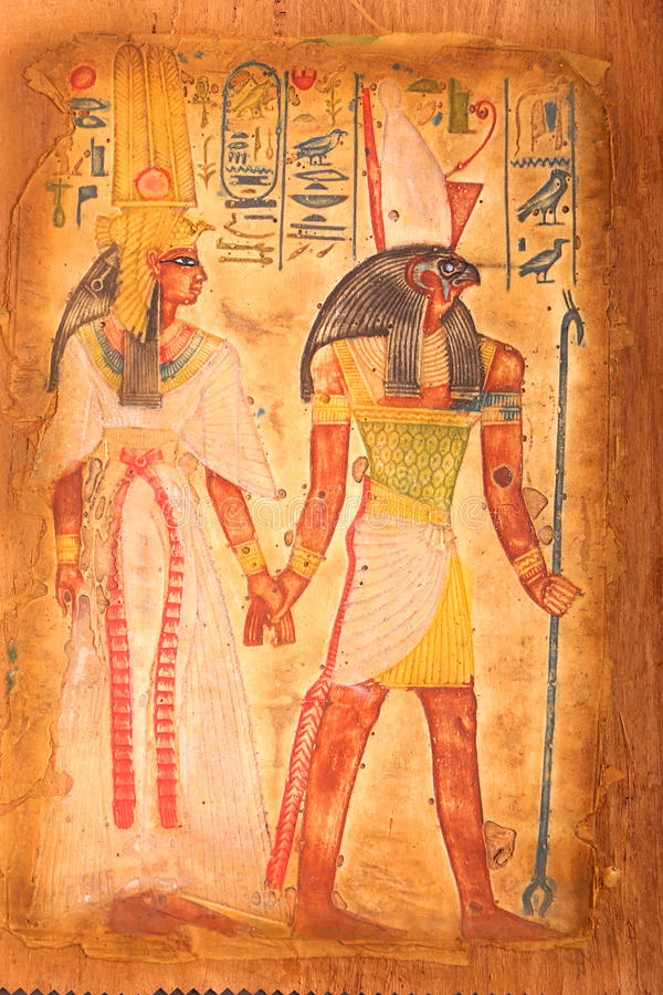 Download King Of Old Egypt On Papyrus Editorial Image