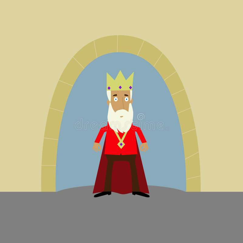 Download King outside his castle stock illustration. Image of master - 9348255