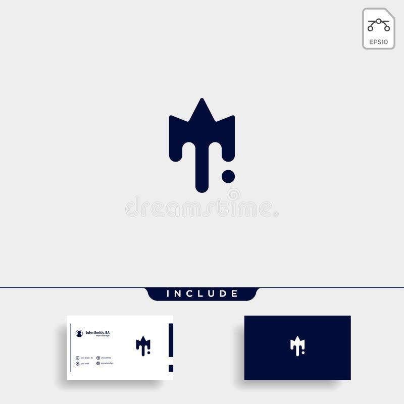 King Paint Logo Template Vector Design Icon. King Paint Logo Template Vector Design Crown Icon, initial, illustration, royal, drawn, sketch, graphic, symbol stock illustration